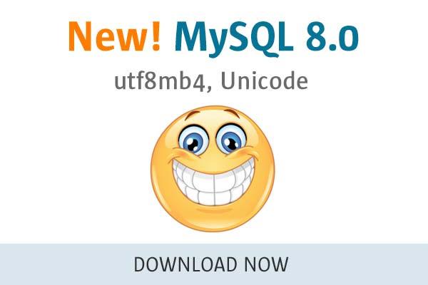 MySQL 8.0 - utf8mb4, Unicode